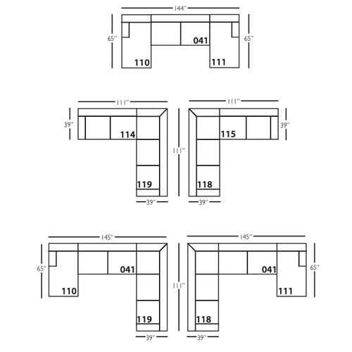 Premium Collection - Grayson Slipcover Sectional Sofa