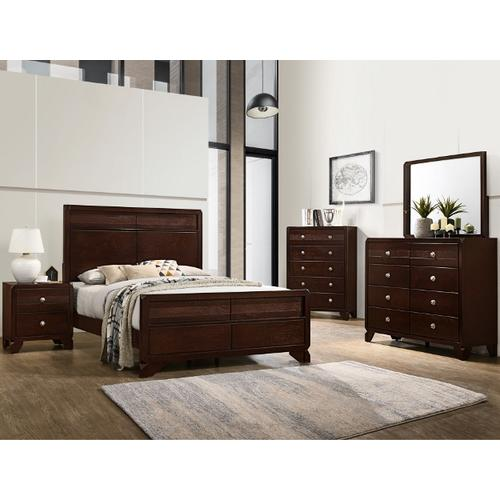 CrownMark 4 Pc Queen Bedroom Set, Tamblin B6850
