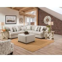 CORINTHIAN 1103LC-1102RF 2-Piece Celedon Raffia Sectional Sofa