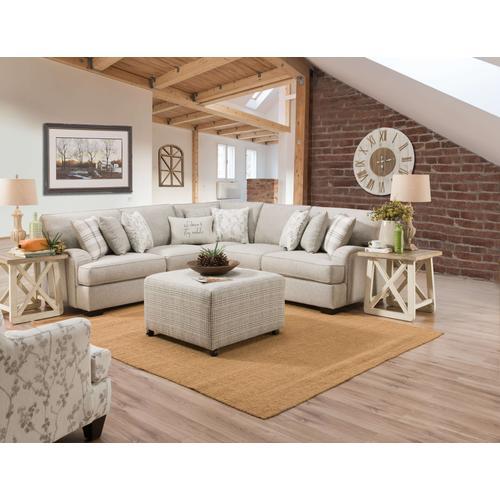 Corinthian - CORINTHIAN 1103LC-1102RF 2-Piece Celedon Raffia Sectional Sofa