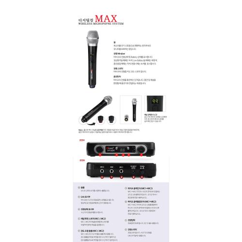 Digitalcom 900 Mhz Wireless Mic System