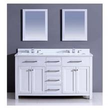 """60"""" Milan Style Vanity Cabinet with Double Sink and White Marble Top List Price: $3,270.00 for entire set"""