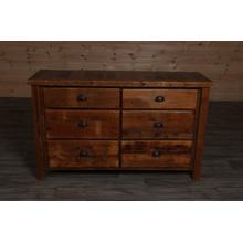 Reclaimed Barnwood 6 Drawer Dresser