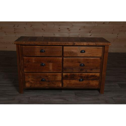 Reclaimed Barnwood 6 Drawer Dresser