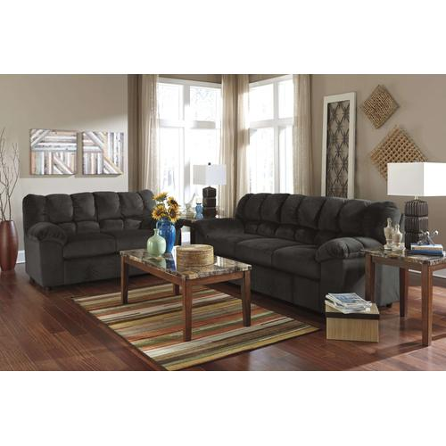 Chocolate Comfy Sofa/Loveseat/T158 Coffee/ 2 End Tables