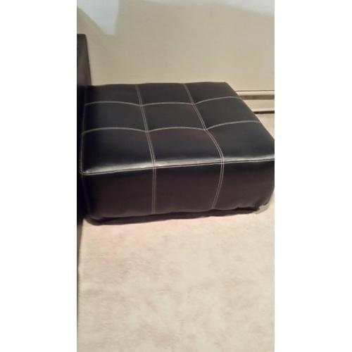 Affordable Furniture Manufacturing - Black Vinyl Party Ottoman