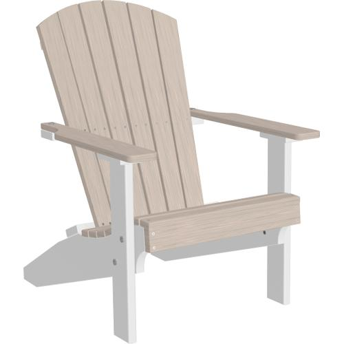 Lakeside Adirondack Chair Premium Birch and White