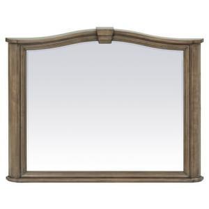 RGB Stonewood Beveled Mirror Rustic Glazed Brown Finish