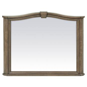 RGB Stonewood Beveled Mirror Rustic Glazed Brown Finish