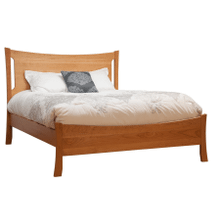 King Armstrong Solid Natural Cherry Panel Bed with Low Footboard