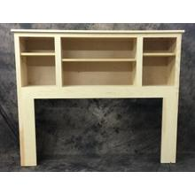 Maine Made Bookcase Headboard Queen 66.5W X 48H X 13D Pine Unfinished