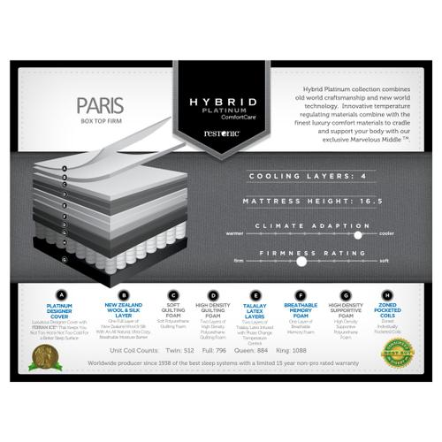 Hybrid Platinum ComfortCare - Paris - Firm - Box Top