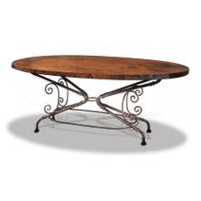 Jackson Hole Oval Dining Table & Oval Metal Base