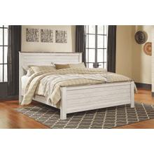 Willowton- Whitewash- King Panel Bed