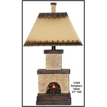 See Details - Stone Fireplace Table Lamp