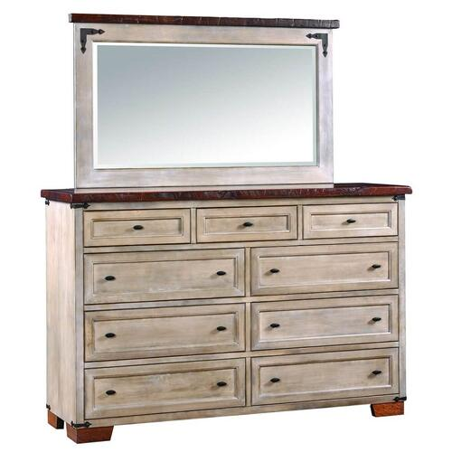 Amish Furniture - Farmhouse Heritage Dresser with Mirror