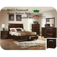 Crown Mark Furniture B6075 Portsmouth Bedroom set Houston Texas USA Aztec Furniture