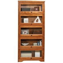 "Oak 5-Door 74""  Lawyer Bookcase"