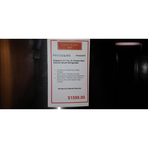 SCRATCH & DENT FRIGIDAIRE 21.7 cu. ft. COUNTER DEPTH FRENCH DOOR REFRIGERATOR