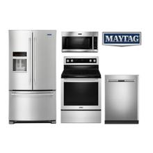 Maytag Fingerprint Resistant  Stainless Kitchen Package with French Door