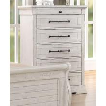 LIFESTYLE C8047AC Gracie Antique Whitewash Chest