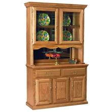"48"" Hutch w/ 2 Half Doors Mirror Backs, Touch Light"