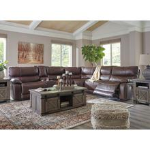 Three piece leather reclining sectional