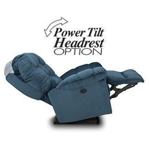 Best Home Furnishings - BROSMER POWER ROCKER RECLINER w/POWER TILT HEADREST in Platinum     (9MZ87-1-20573,40080)
