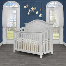 Evolur Madison 5 in 1 Curve Top Convertible Crib- Antique Mist