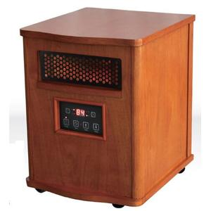 WORLDHEATER Comfort Glow QEH1410 Quartz Heater with Remote, Compact, Oak Finish