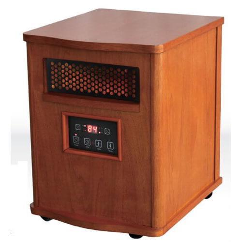Comfort Glow - WORLDHEATER Comfort Glow QEH1410 Quartz Heater with Remote, Compact, Oak Finish
