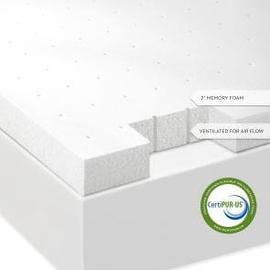"See Details - Isolus 2"" Memory Foam Mattress Topper"