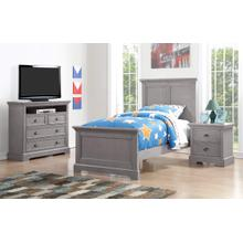 Panel Bed Twin, Grey