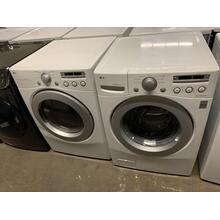 Refurbished LG White Front Load Washer Dryer Set. Please call store if you would like additional pictures. This set carries our 6 month warranty, MANUFACTURER WARRANTY AND REBATES ARE NOT VALID (Sold only as a set)