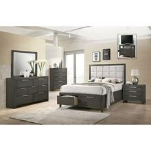 Malika King Bedroom Set: King Bed, Nightstand, Dresser & Mirror