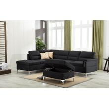 Larry - 2 PC Sectional - Black