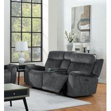 View Product - Kagan Dual Recliner Loveseat - Shadow Gray
