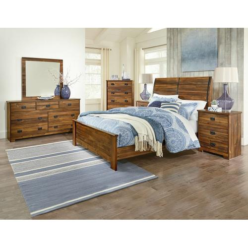 Perdue Woodworks - PERDUE BROWN PLANK NIGHT STAND