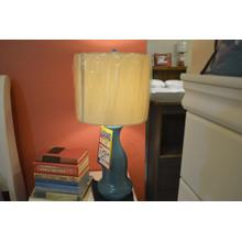 Product Image - Ashley Furniture blue table lamp.