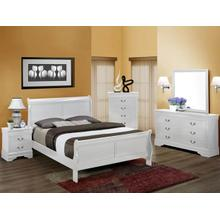 Gloss White Louis Phillip 7pc. Queen Set