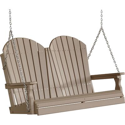 Adirondack Swing 4' Weatherwood