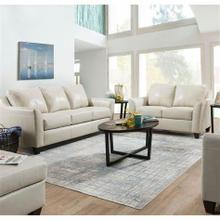 Dundee- Cream Genuine Leather Sofa and Loveseat