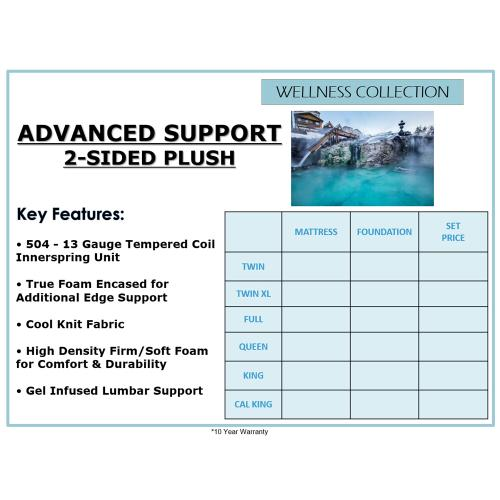 Biscayne Bedding - Advanced Support 2-Sided - Plush