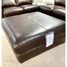 See Details - Everest Italian Leather Ottoman in Chocolate
