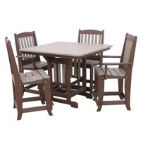 "44"" Square Table W/4 Chairs"