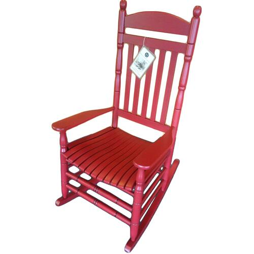 Antique Red Porch Rocker