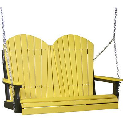 Adirondack Swing 4' Yellow and Black