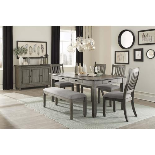 Gray Dining Table and 4 Chairs