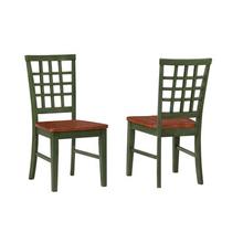 Arlington Lattice Back Chairs / 2 PAK - Green and Java