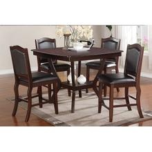 Cletoes - Counter-Height Table Set - Drk Cherry